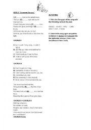 Adele: Someone like you - ESL worksheet by caridadmanuel