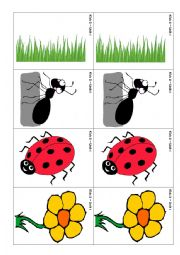 English Worksheets: Flashcards and memory game Animals