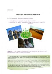 English Worksheet: PREDICTING AND READING FOR DETAILS (Reading about MOROCCO)