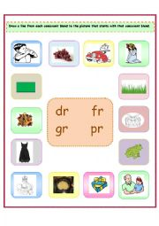 consonant blends br worksheets two letter blends aussie childcare networkblends bl pl cr dr. Black Bedroom Furniture Sets. Home Design Ideas