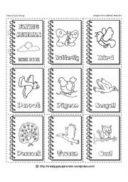English Worksheets: FLYING ANIMALS - MINIBOOKS - 3 of 6