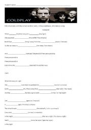 English Worksheet: Paradise (Coldplay´s song)