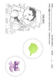 English worksheet: BOY