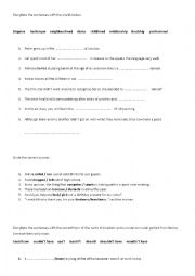 English Worksheets: Complete the sentence
