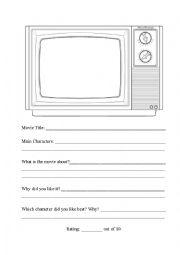 English Worksheets: Movie Sheet