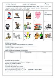 English Worksheets: Let�s watch a film