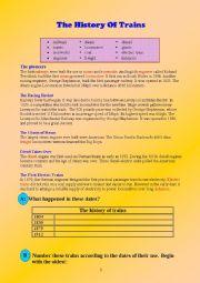 English Worksheets: railway transportation