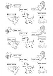 English Worksheets: Animal�s voices