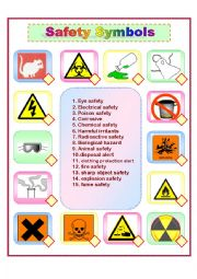 Printables Safety Symbols Worksheet english worksheet safety symbols
