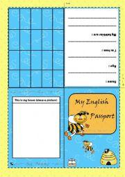 Pretend Passport Template For Kids English passport