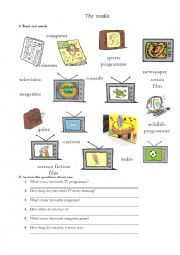 English Worksheets: The media (TV programmes)