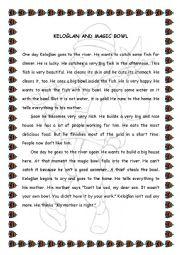 English Worksheets: kelo�lan and magic bowl