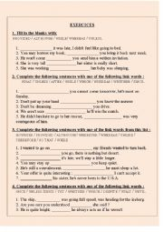 English Worksheets: Linkwords exercices