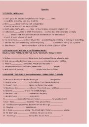 English Worksheets: Quantity