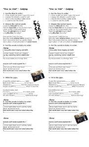 English Worksheets: Coldplay - Viva la Vida
