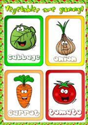 English Worksheet: Vegetables - flashcards (1)