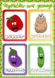English Worksheet: Vegetables - flashcards (2)
