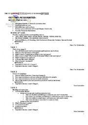English Worksheets: Meeting  someone new