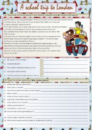 English Worksheets: A school trip to London