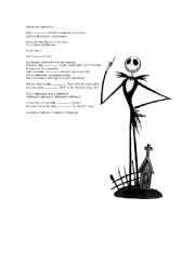 English teaching worksheets: Nightmare before Christmas