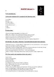 English Worksheets: Film : The Artist