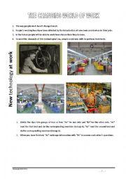 English Worksheet: New technology at work