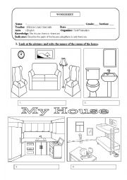 the rooms of the house esl worksheet by eleazar. Black Bedroom Furniture Sets. Home Design Ideas