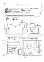 the rooms of the house esl worksheet by eleazar. Black Bedroom Furniture Sets. Home Design Ideas