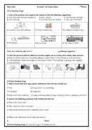 English Worksheet: Let�s help others
