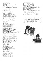 English Worksheet: Give your heart a break - Demi Lovato