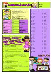 English Worksheet: How to make COMPOUND WORDS