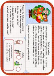 English Worksheets: Sally�s Grandpa