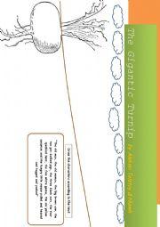 English Worksheets: The gigantic turnip worksheet