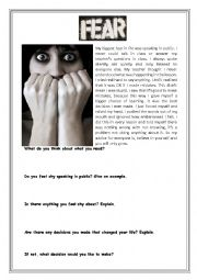 English Worksheets: Fears