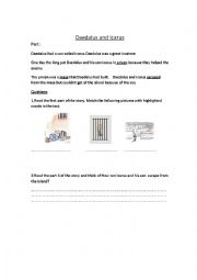 English Worksheets: Daedalus and Icarus