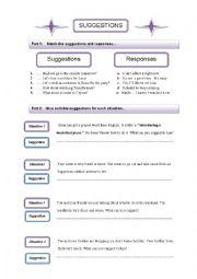 English Worksheets: Suggestion