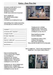 English Worksheets: Gotye - Easy way out