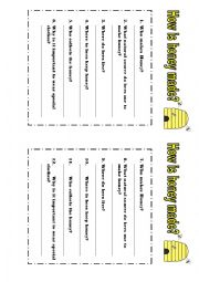 English Worksheets: Explanation Text: How honey is made
