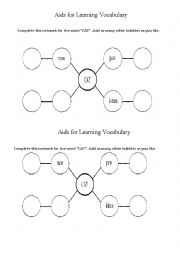 English Worksheets: Network of a Word