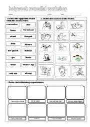 English Worksheets: remedial worksheet