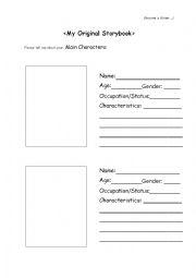 English worksheet: My Original Storybook