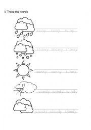 english worksheets the weather worksheets page 72. Black Bedroom Furniture Sets. Home Design Ideas