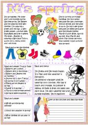 English Worksheets: it�s spring