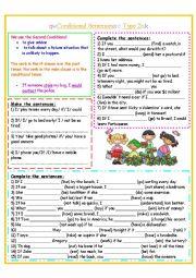 English Worksheet: Conditional Sentences Type 2