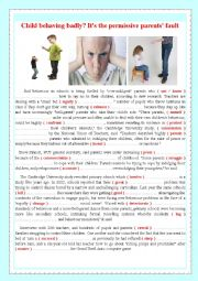 English Worksheet: Child behaving badly? It�s the permissive parents� fault