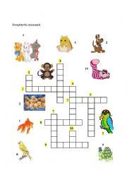 English Worksheets: Animals at home - Part II