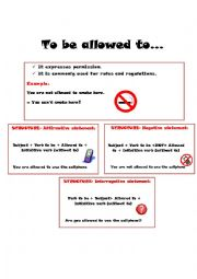 English Worksheet: To be allowed to