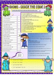 English Worksheets: IDIOMS *includes B/W copy & answer key :-)