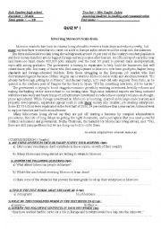English Worksheet: BRAIN DRAIN