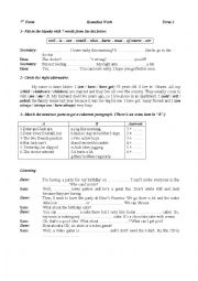 English Worksheets: remedial Work 7 th Form
